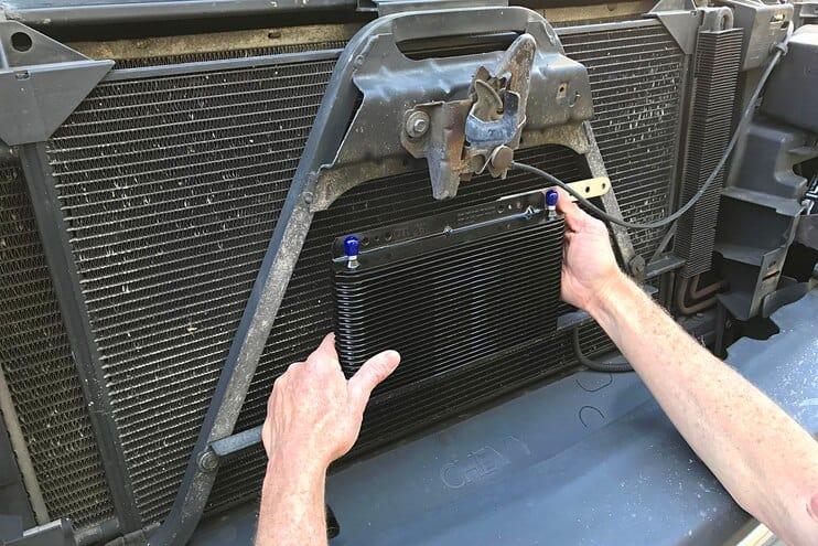 B&M 70264 Transmission Cooler On SIlverado, Sierra, Tahoe, Yukon, Suburban
